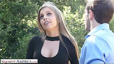 Naughty America Jennifer Culver (Britney Amber) fucks neighbor while hubby is out