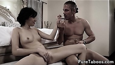 Hot nanny fucked by her boss