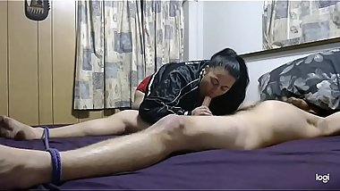 Becky Ties Daddy Up &amp_ Pleasures Him With Her Slutty, Well Trained Mouth