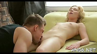 Stud delights angel with moist cunnilingus and rough fucking