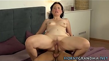 Lingerie gilf rides dick
