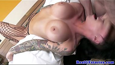 Gf with tattoos pussyfucked deeply