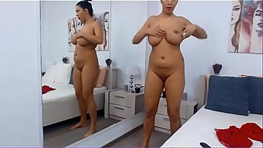 Busty MILF Plays with her Huge Natural Tits aЦґ analbuzz.com
