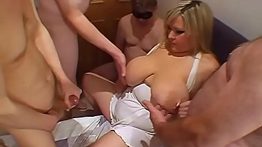 Feeding the mature with mens cum