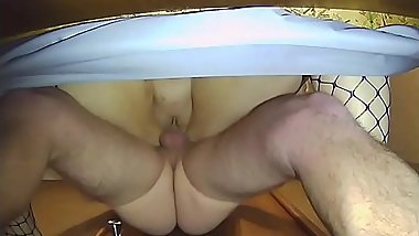 Bbw wife fucked from behind view from below
