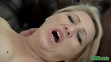 Blonde MILF loves to fuck with a big cock