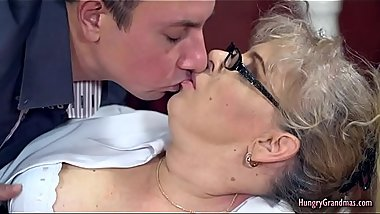Horny Granny Enjoys Hardcore Sex With a Big Cock