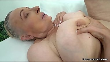 Sexy Granny With Big Tits Loves Hard Cock