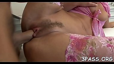 Clitoris stimulated by toy and vagina fucked by cock