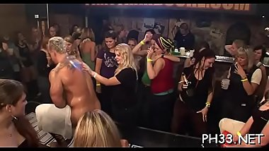 Blonde cute waiter fucks everyone drips every thing fingering asses
