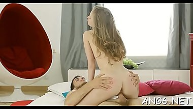 Gorgeous babe is groaning wildly as dude hammers her anal canal