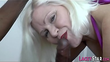 Titfucking brit granny gets pounded