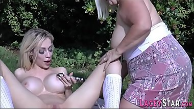 Pussy toying grandmother