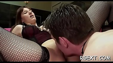 Appealing hooker gets her pussy licked and drilled balls deep