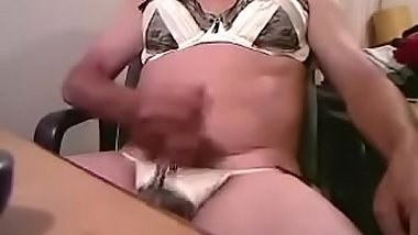 Bra and Pantie Cum