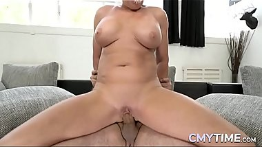 Horny granny loves to fuck hard with a big cock