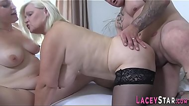 Lacey Starr in threeway