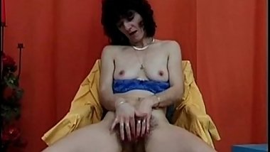 Super Hairy Mature Masturbating