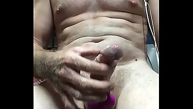 Masturbating with a cock ring