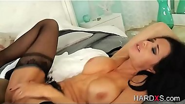 MILF loves a big cock in her sexy ass