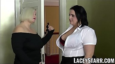 LACEYSTARR - Chubby ladies spunked on their hot faces by BBC