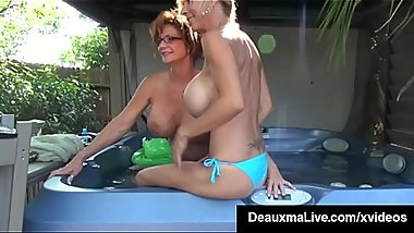 Cougars Deauxma &amp_ Brook Tyler Tongue Fuck &amp_ Cum!
