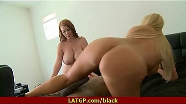 Mature lady gags and gets banged by a black cock 2